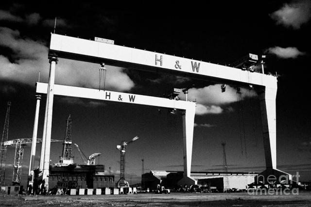Harland And Wolff Shipyard Cranes Belfast Samson Goliath Photograph